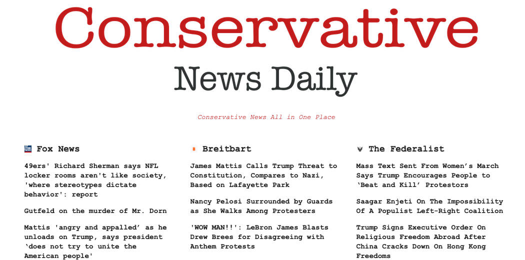 Conservatives News daily